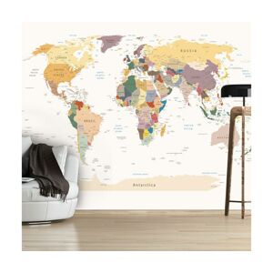 Tapeta World Map 210x300 cm