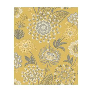 Fototapeta Vintage Bloom Mustard Yellow 53x1005 cm